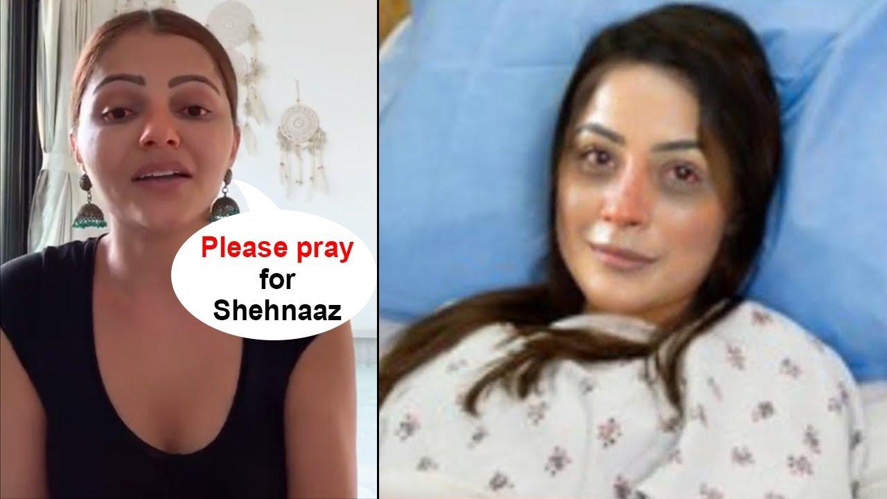 Download Rubina Dilaik and Abhinav Shukla Meet Shehnaaz Gill and Reveal Her Critical Health Condition
