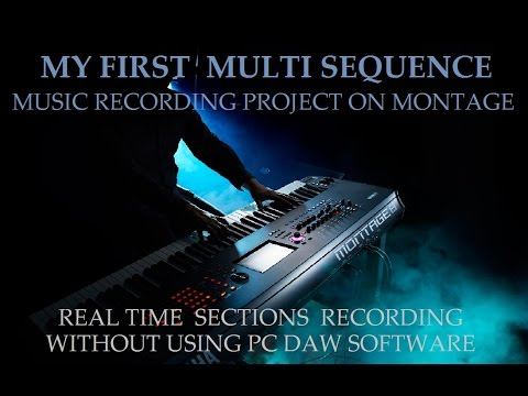 yamaha montage - on board recording multi sequence non daw