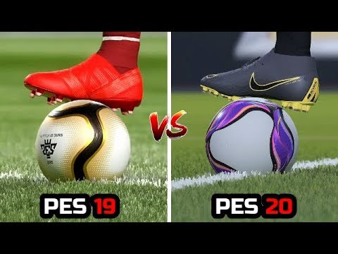 PES 19 VS PES 20 - 4K Gameplay Comaprison