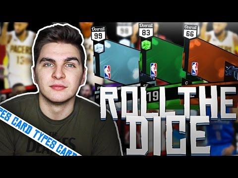 NBA 2K17 ROLL THE DICE OF CARD TYPES!