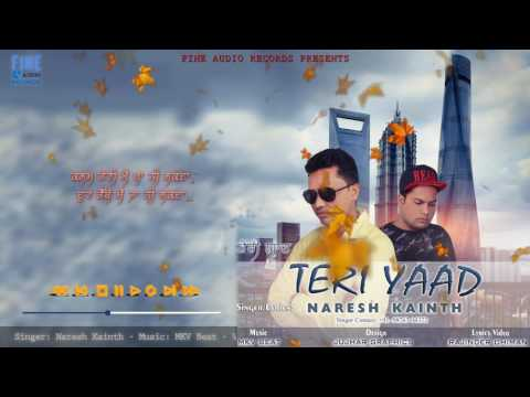 Teri Yaad  Lyrics Video    Naresh Kainth...