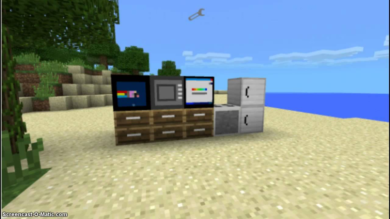 Minecraft Pe 0 10 0 Furniture Mod V3 0 Youtube