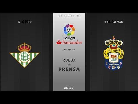 Rueda de prensa R. Betis vs Las Palmas