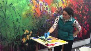Field of Blooms  |   Impressionism Work in Progress by Erin Hanson (Clips)