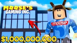BUILDING A $1,000,000,000 GAMING COMPANY! (Roblox Gaming Simulator)
