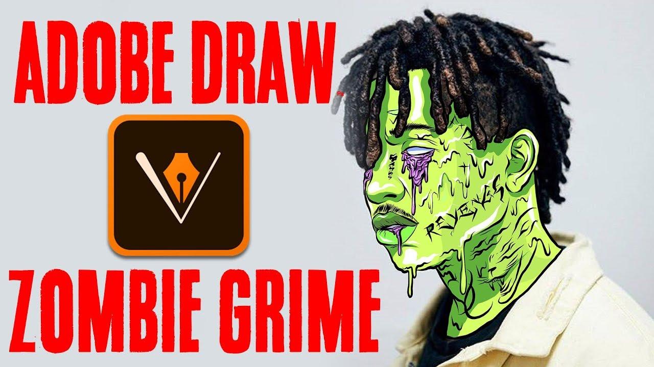 Adobe Draw   Ski Mask The Slump God - Grime edit