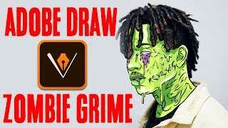 Adobe Draw | Ski Mask The Slump God - Grime edit