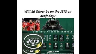 Is Ed Oliver the Jets New Target on Draft Day?   New York Jets Schedule Impressions   JetsHQ
