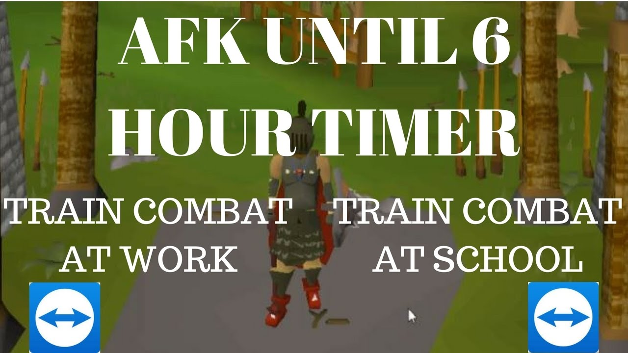 How To Afk Osrs For 6 Hours Training Combat At School Work Wherever