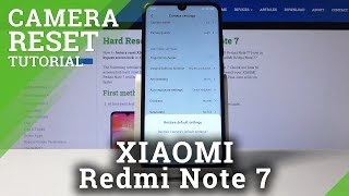 How to Restore Camera Defaults in XIAOMI Redmi Note 7 - Reset Camera Settings