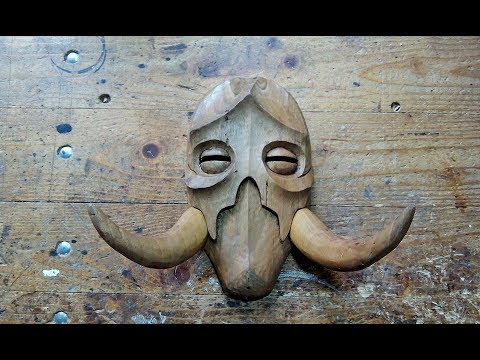 Carving A Konahrik Dragon Priest Mask Out Of Wood