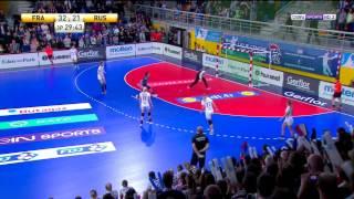 Roucoulette de folie sur penalty Alexandra Lacrabère France 33-21 Russie GL