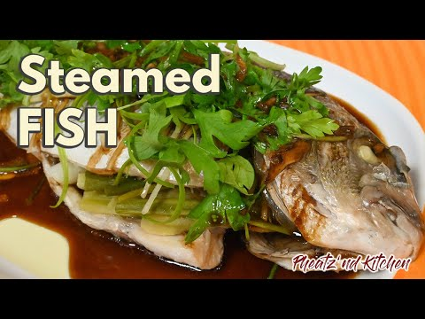 How To Make Steamed Fish With Ginger, Garlic, Parsley, And Green Onion   Steamed Fish Recipe