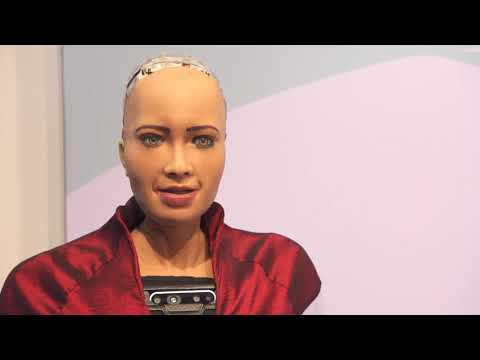 Artificial Intelligence in the 5G era and the future of IoT by Sophia from Hanson Robotics