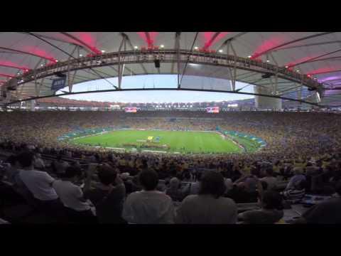 el maracana vibro con el himno de uruguay