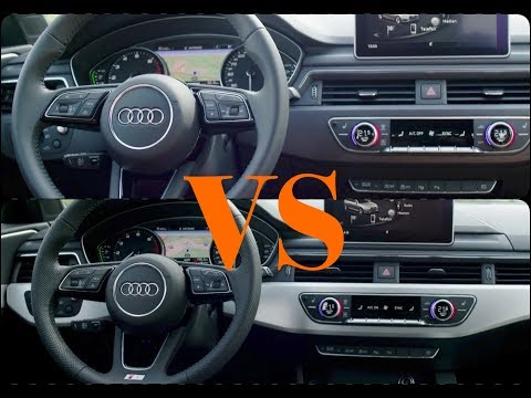 2017 Audi A4 VS Audi A5 INTERIOR DESING - YouTube