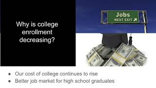 Decreasing Enrollment at Colleges and Universities