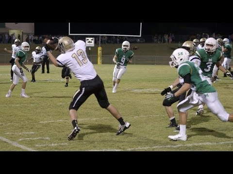 Andrew Taylor - Freshman Year Varsity Football Highlights - 2013 Season - Receiver & Safety - Age 14