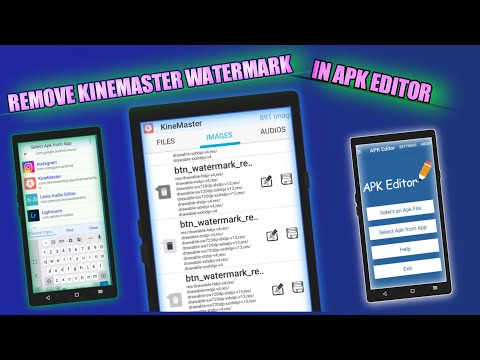 How to remove KineMaster watermark using apk editor | how to use apk editor | Tech lover and vlog