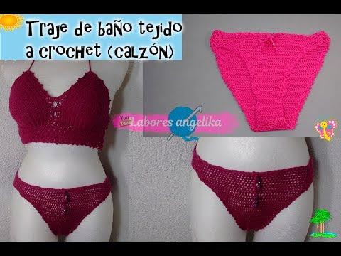 Traje Baño De CrochetcalzónLabores Tejido Angélika A K1cJFTl
