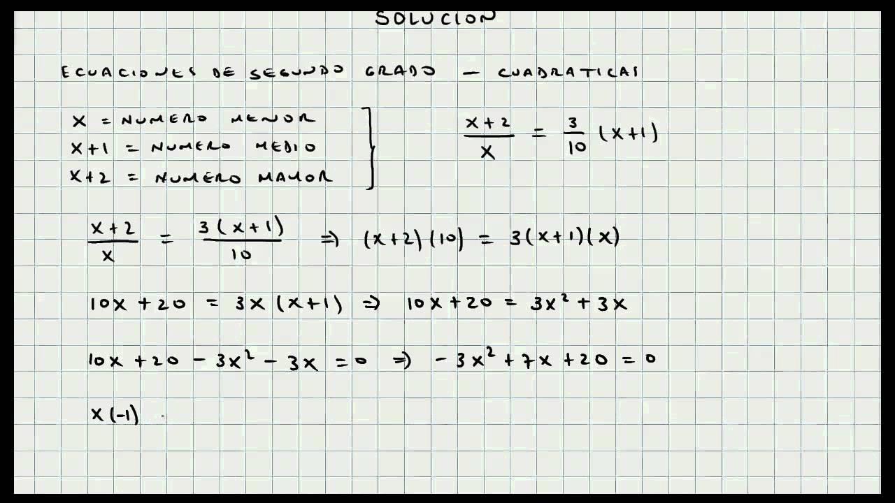 Problema Ecuaciones de Segundo Grado - Mi Profesor de Matematicas ...
