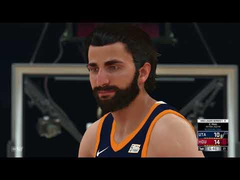 NBA 2K18 Western Conference Semifinals Utah Jazz vs Houston Rockets Game 2