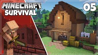 Piglin Bartering & Barn Building - Minecraft 1.16 Survival Let's Play
