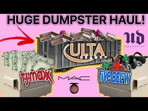 JACKPOT! HUGE DUMPSTER MAKEUP SCORE! |BLOW DRYERS|HEADPHONES| MASSIVE HAUL!