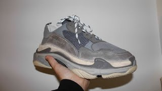 Unboxing + giveaway af balenciaga triple s