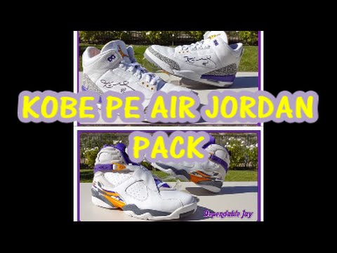258cab574e8e54 2016 ALL-STAR AIR JORDAN 3 AND 8 KOBE BRYANT PE PACK    - YouTube