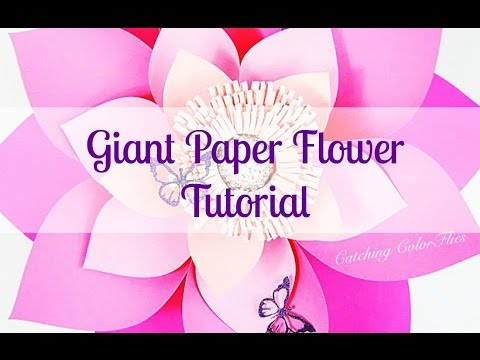 Alana Style DIY Giant Paper Flower Instructions - YouTube