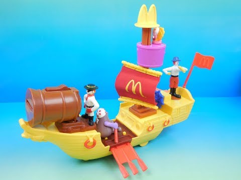 2002 RONALD McDONALDS McBOAT SET OF 4 McDONALDS HAPPY MEAL KIDS TOYS VIDEO REVIEW