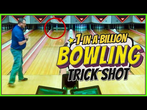 1 IN A BILLION BOWLING TRICK SHOT!!!