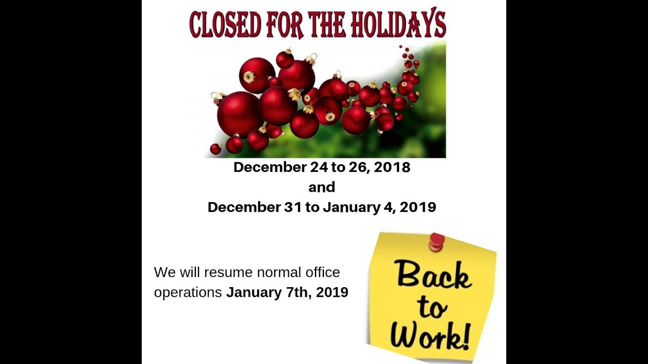 Law Offices Of Osas Iyamu Llc Will Be Closed For The Holidays