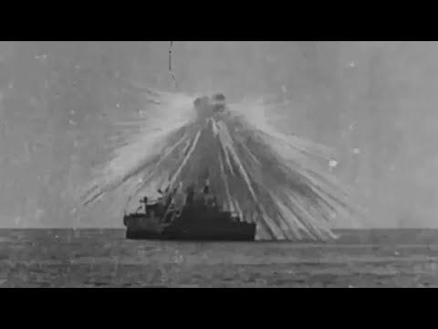Battleship Aerial Bombardment Demonstration Obsolete Ships 1920s Vintage Footage General Mitchell