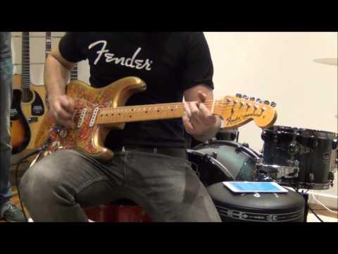 SRV - Lenny (cover), Fender CS Masterbuilt Strat Dale Wilson relic paisley, '68 deluxe reverb ri