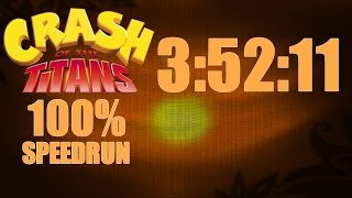 Crash of the Titans [PS2] - 100% Speed Run in 3:52:11 (Live Commentary)