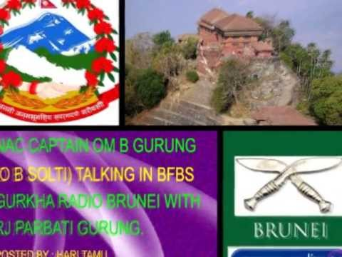 Nac captain O B Solti at BFBS Gurkha Radio Brunei with Parbati Gurung