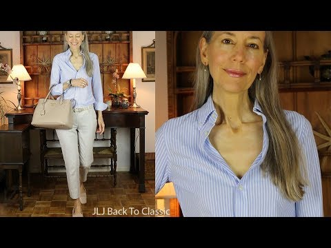 Refined-Casual OOTD: Oxford Button-Down Shirt, Chino Pants / Classic Fashion Over 40