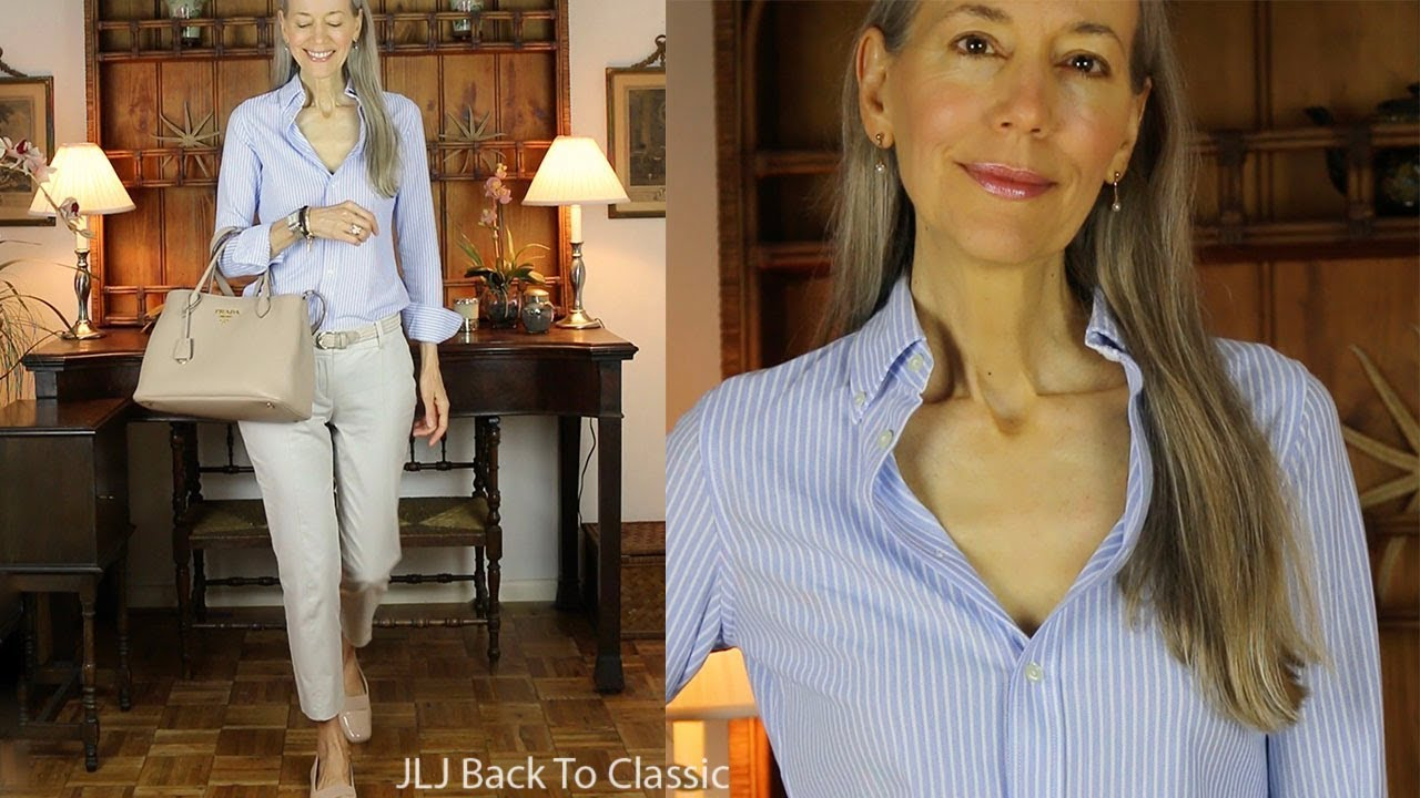 OOTD: Refined, Casual Oxford Button-Down Shirt, Chino Pants / Classic Fashion, Style Over 40, 50