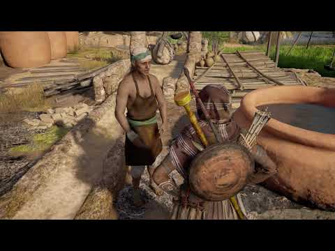 Assassin's Creed Origins Get to Sais Speak to Harkhuf in Brewery