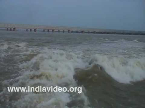 Prakasam Barrage over Krishna River at Vijayawada