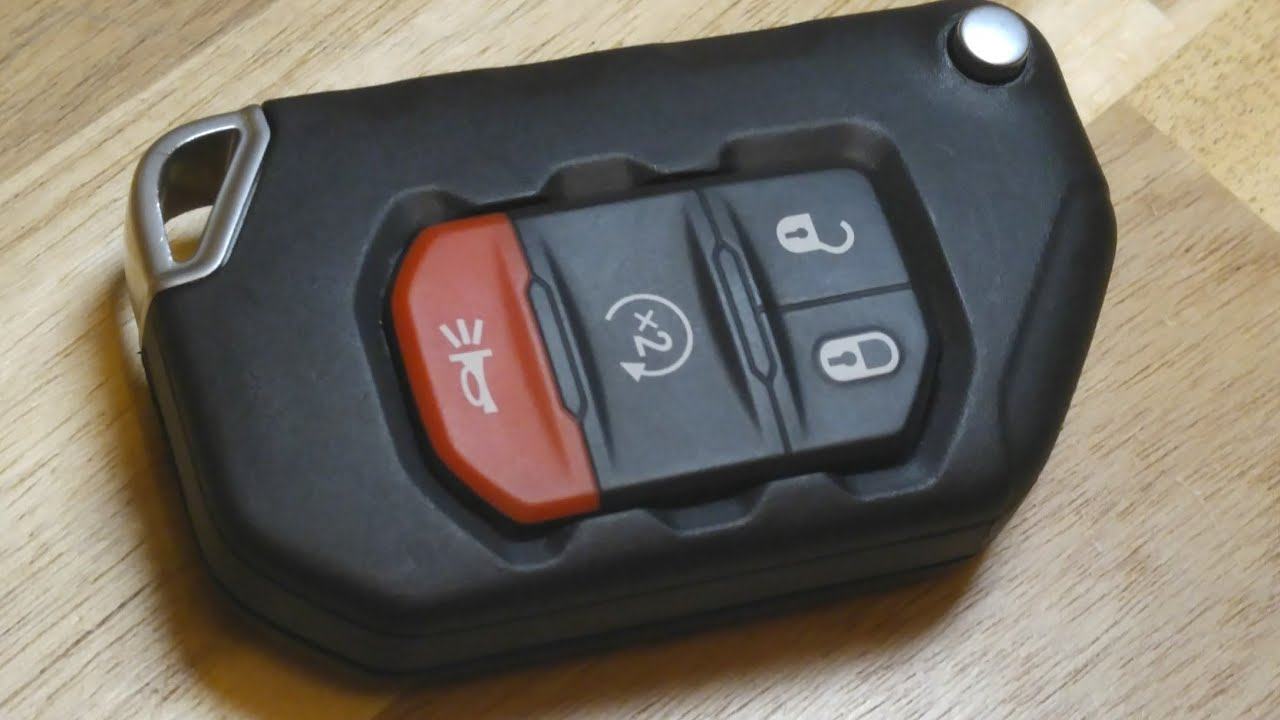 Jeep Gladiator Key Fob Battery Replacement Diy Youtube