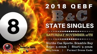 2018 QEBF B + C Grade State Singles - Saturday 2PM