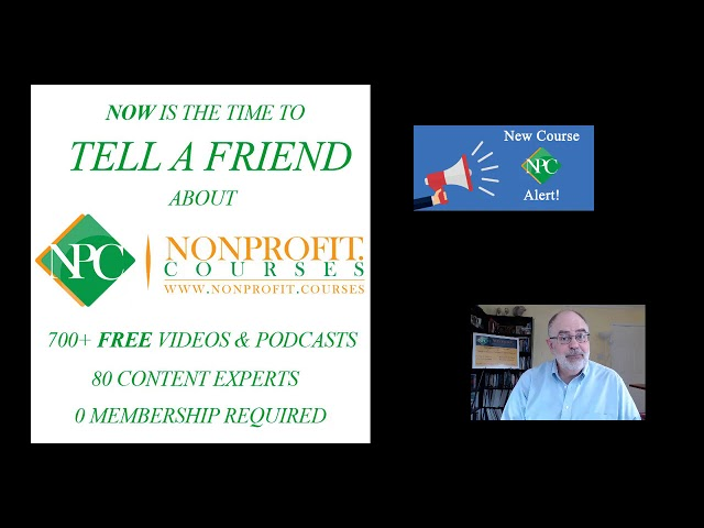 NOW is the time to Tell a Friend about Nonprofit.Courses