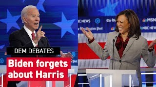 Biden claims support of only African American woman senator Harris