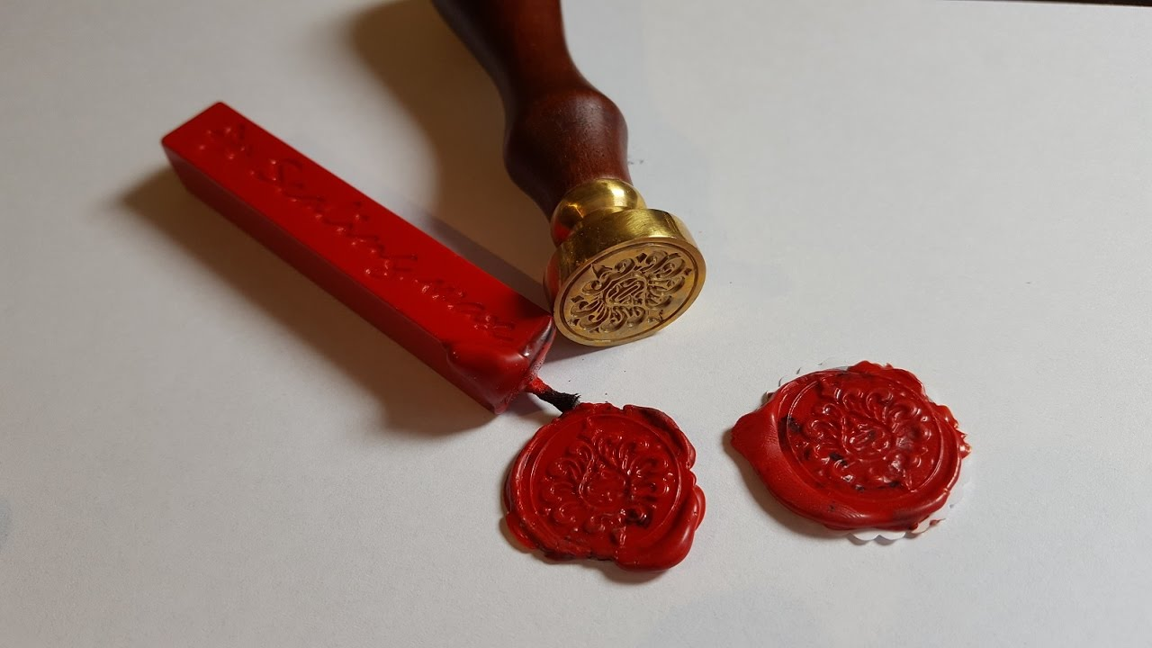 Diy Tutorial Wax Seal Stamps Sticker Youtube