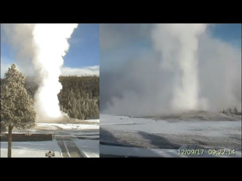 3 Cams! Giant Geyser's Move to the Music@Yellowstone!