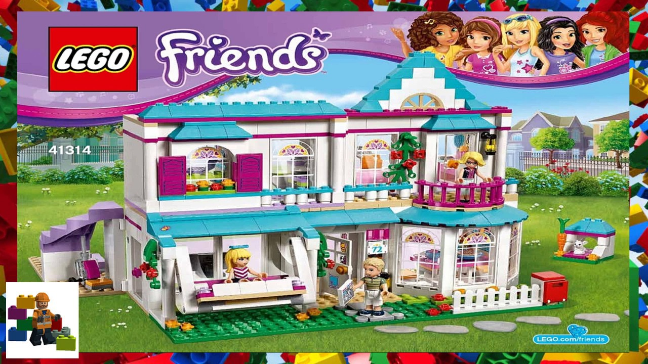 Lego Instructions Friends 41314 Stephanies House Youtube