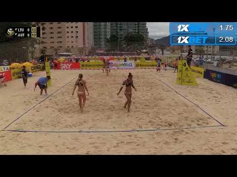 Beach Volleyball - Itapema Brazil - Bieneck & Schneider (GER) vs Kociolek & Kolosinska